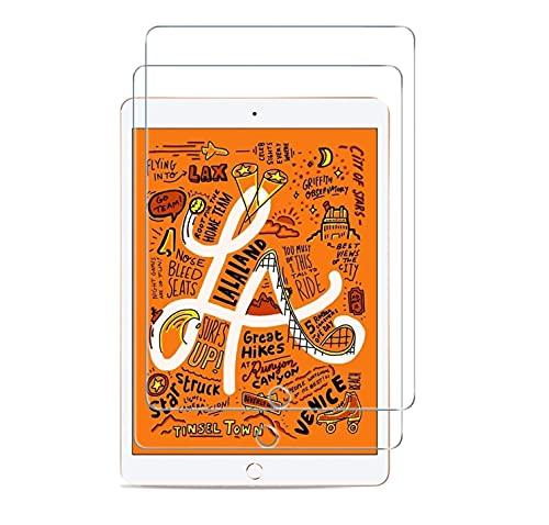 WEOFUN 2 Unidades iPad Mini 4 / Mini 5 Protector de Pantalla, Cristal Templado para iPad Mini 4 / Mini 5 Protector Vidrio Templado [0.33mm, 9H, Alta Definicion]