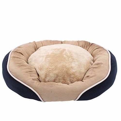 Pet Online Kleine Hunde- und Katzenfutter abnehmbare und waschbare abgerundete samt warmen Pad, S: 40 * 45 cm
