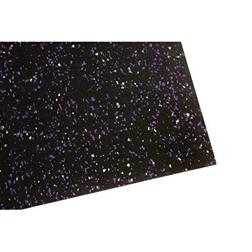 Materassino per attrezzi da palestra, spessore: 4mm, robusta protezione per il pavimento robusto, antiscivolo e fonoassorbente, LILA WEISS, 200x125x0.8cm