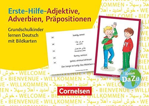 Deutsch lernen mit Fotokarten - Grundschule: Erste-Hilfe-Adjektive, Adverbien, Präpositionen - 100 Bildkarten