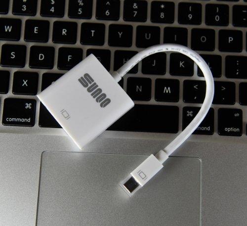 SUNQQ Mini DisplayPort (Thunderbolt) to DVI Female Adapter Cable