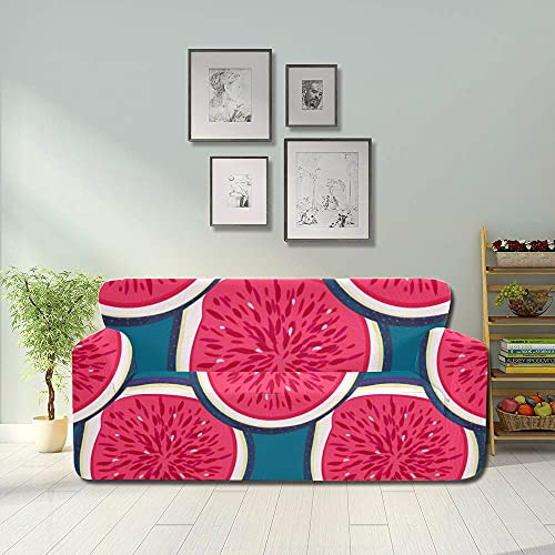 ALALAL Fundas de Asiento elásticas para sofá de Higo de Frutas Retro a la Moda, Protector de Muebles Equipado 2