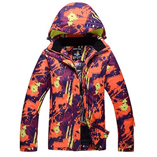 JOSCJKS Les Hommes et Les Femmes Snow Mountain Sports de Plein air Vêtements Snowboard Costume d'hiver Ski Coupe-Vent imperméable Ensembles Veste et Pantalon Bib Picture Jacket XL