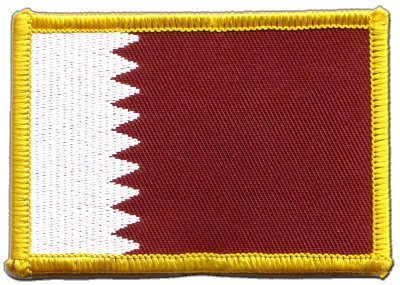 Aufnäher Patch Flagge Katar - 8 x 6 cm