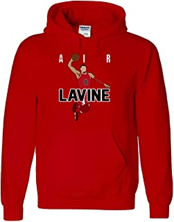 RED Chicago LaVine Air Pic Hooded Sweatshirt