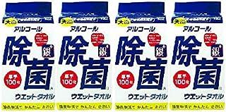 【まとめ買い】アルコール除菌ウェットタオル 詰替え用【×4個】