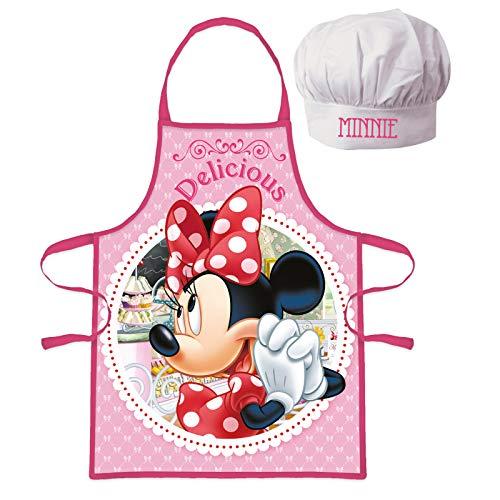 kidslicensing Set Delantal y Gorro Disney Minnie Mouse