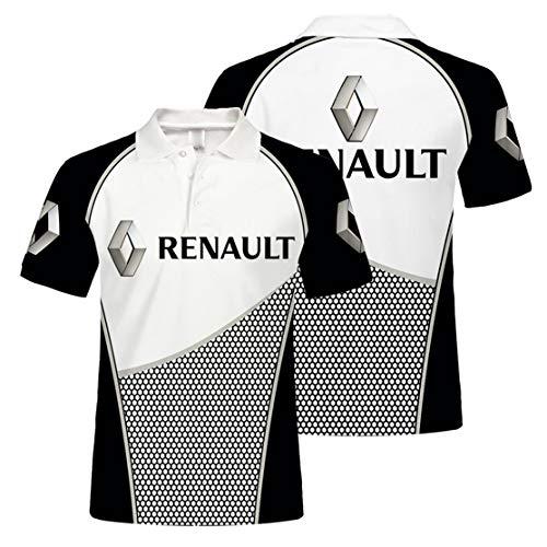 Camisa De Polo para Hombre con Estampado Digital R.e.n.a.u.l.t De Manga Corta (2,3XL)
