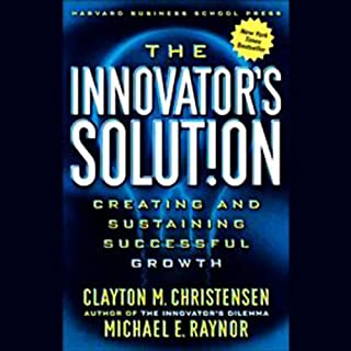 The Innovator's Solution audiobook cover art