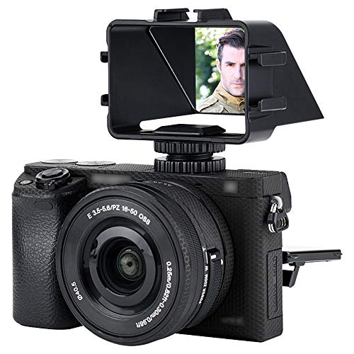 JJC Kamera Flip Screen Spiegel für Sony a6500 a6300 a6000 a7 II a7 III Serie Fujifilm X-T2 X-T3 X-T20 X-T30 Nikon Z5 Z6 Z7 mit Cold Shoe Mount für Mic Light - Selfie Flip Screen YouTube Vlog