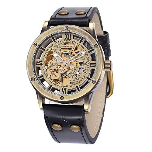 SJXIN Hochwertige mechanische Uhr, Shenhua/Männer Openwork Stil automatische mechanische Uhr (Color : 1)