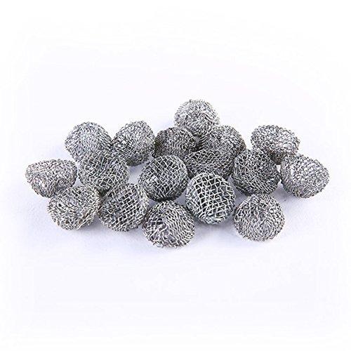 Rosenice - 100 filtri per pipa, in metallo, 17 mm, color argento