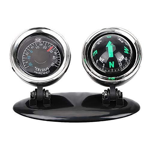 Balight Auto Ornaments Kompass Thermometer 2 in 1 Führungsball Dekoration Zubehör ABS Auto Innenraum Nützliches Fahrzeug KFZ Zubehör