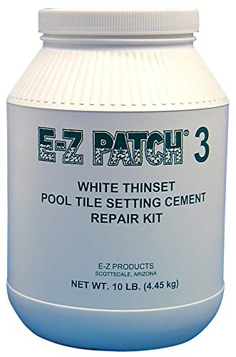 E-Z Patch 3 White Thinset Pool Tile Repair Cement 10 lb.