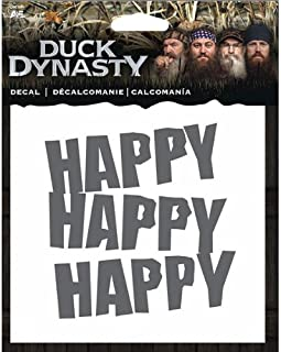 A&E Duck Dynasty 4.5x4.5 Decal- Happy Happy Happy