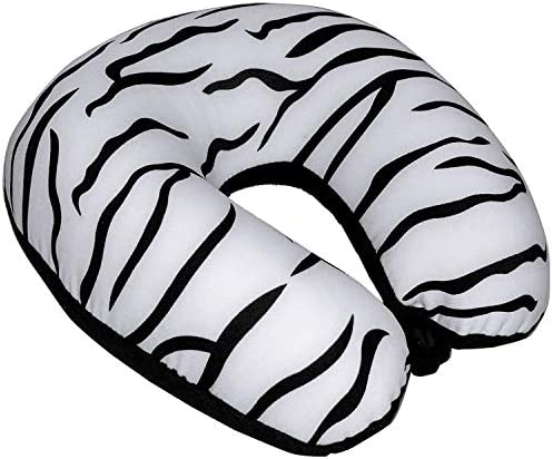 Bookishbunny Classic U Shaped Micro Beads Microbead Neck Travel Pillow Cushion 12 x12 x4 Zebra product image