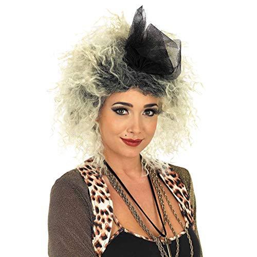 Déguisement Adulte Pop Star Chic années 80 Perruque et Pince à Cheveux en Tulle.