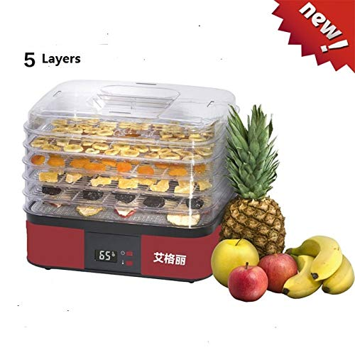 Review Of Tool Parts Household 5 Tray food drying machine Fruits and vegetables drying machine Pet f...