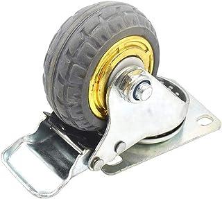 zwenkwielen met rem, Caster Wheels Set van 4 Casters 3in Solid Rubber Swivel Caster Wheels met 360 graden kogellager Zware...