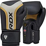 RDX - Guanti da boxe per allenamento Muay Thai, Maya Hide in pelle per sparring, kickboxing, combattimento,...