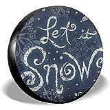 Olive Croft Copertura Invernale di Ricambio per Pneumatici Let It Snow Welcome a Prova di Polvere per rimorchio, Camper, SUV, Ruota per Camion 14-17inch