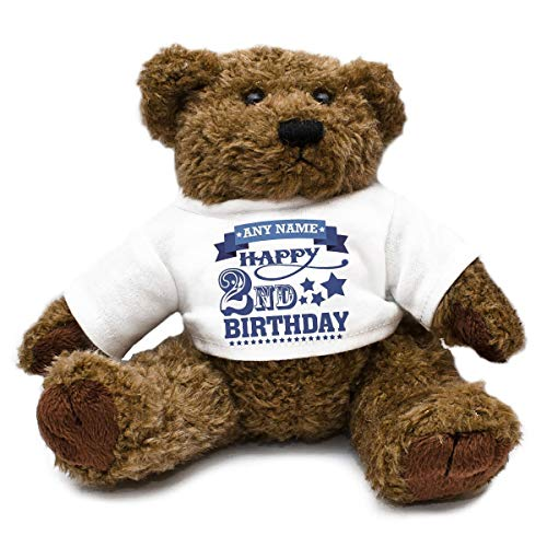 Personalised Add Your Own Name & Age Birthday Teddy Bear unique gift idea kids thank you present 1st 18th 21st 30th 40th 70th Son Daughter Mum Dad Nan Grandad Auntie Uncle Cousin