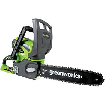 Greenworks 20292 Chainsaw, Battery Not Included, green