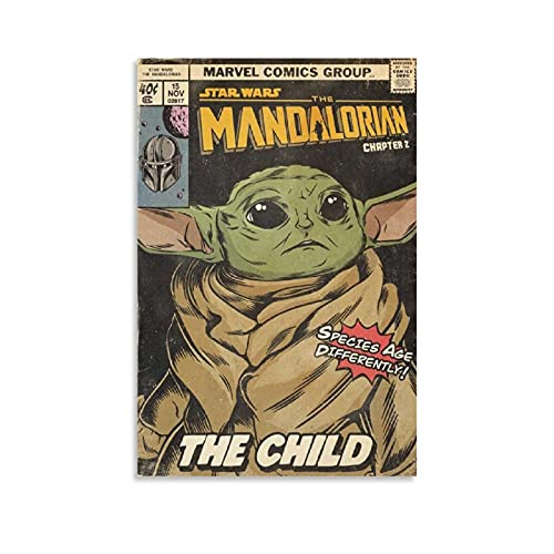 Vintage Poster Mandalorian Comic Book Canvas Art Poster and Wall Art Picture Print Modern Family bedroom Decor Posters 24x36inch(60x90cm)