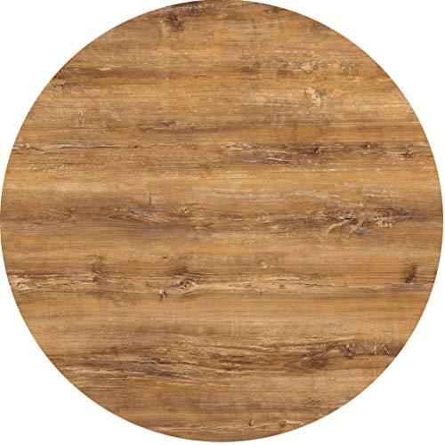 serladur Tischplatte Dekor Atacama Cherry/Kirsche 80 cm rund, wetterfest für Garten, Terrasse, Balkon in Gastronomiequalität Ersatztischplatte Bistro Tisch Werzalitverfahren