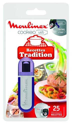 Moulinex Clé USB de 25 Recettes Tradition XA600211 Accessoire Cookeo Officiel Compatible avec Multicuiseurs Cookeo YY2943FB CE702100