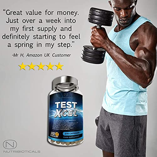 Test Xcel - 3 Months Supply   Informed Sport Registered   17 Potent Active Ingredients with Added Maca, D Aspartic Acid, Nettle, Fennel, Asian Red Panax Ginseng and More