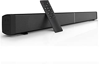 Sanwo Soundbar, 32-Inch 2.0 Channel Sound Bars with Remote Control for TV Wireless Bluetooth Speaker Home Audio Sound Bar, Support Optical Coaxial AUX and TF Card, Wall Mountable