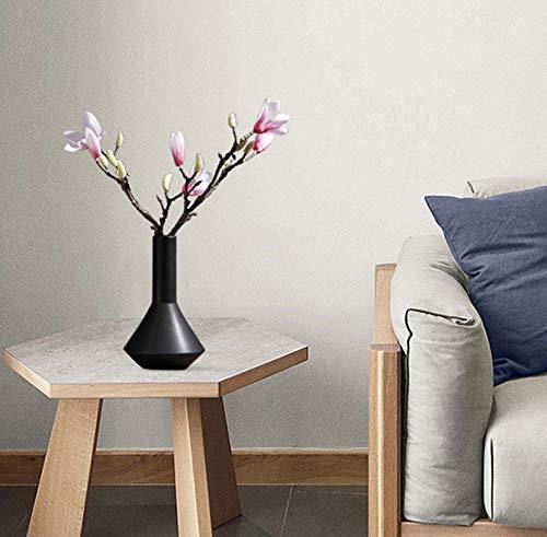 THDFV Jarrones de Flor de cerámica de Flor, Estilo japonés Simple Sala de Estar Decoración de la casa Jarrón, Jarrón de Mesa Flor seco Retro Floral Floral Creativo Black-1