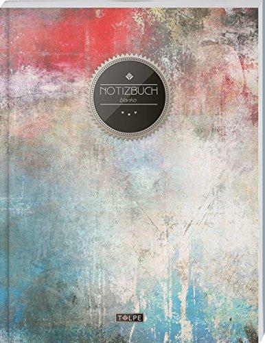 """TULPE Blanko Notizbuch A4 """"C027 Urban Classic"""" (140+ Seiten, Vintage Softcover, Seitenzahlen, Register, Weißes Papier - Dickes Notizheft, Skizzenbuch, Zeichenbuch, Blankobuch, Sketchbook)"""