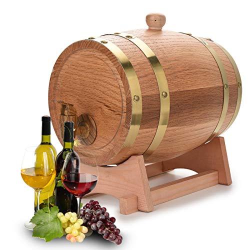 Barril de vino Barril Hermoso y elegante Dispensador de barril de vino Barril de vino de roble Vintage Simple para cenas Estaciones de bebidas