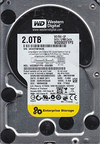 WD2002FYPS-02W3B0, DCM HARCHV2AAB, Western Digital 2TB SATA 3.5 Hard Drive