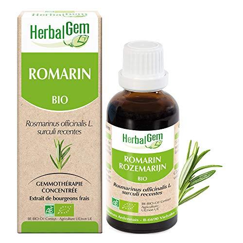 HerbalGem - Romarin Bio - Macérats-Mères de Gemmothérapie Concentrée - 30 ml