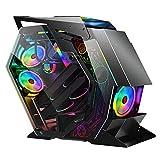 XINKO Caja ATX, chasis para Juegos de PC de Torre Media, Caja compacta para computadora con Vidrio Templado, refrigeración por Agua, Sistema de gestión de Cables