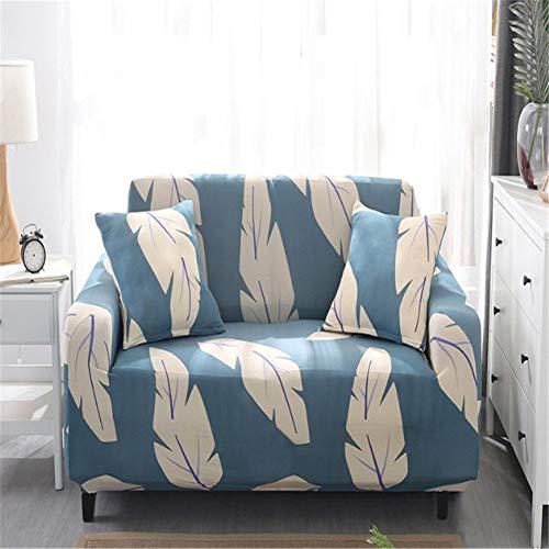 BSBDZD Hoekbank, antislip, elastische all-inclusive bankovertrek van rubber, voor de woonkamer, van polyester, wit veerpatroon