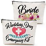 Wedding Day Emergency Kit Makeup Bag,Bride bad,Bridal Shower Gift, Wedding Survival Kit, Cosmetic Bag,Bride Gifts,Bridal shower gift