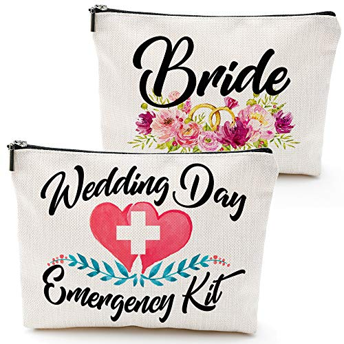 Wedding Day Emergency Kit Makeup Bag,Bride bad,Bridal Shower Gift, Wedding Survival Kit, Cosmetic Bag,Bride Gifts,Bridal shower gift