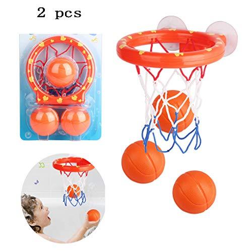Wwrb Basketballkorb & Ball Set Baby-Bad-Spielzeug Für Kinder, 2 PC Fun Ballspiele in Bad Dusche Badewanne Schießen Spiel Für Kleinkinder Kinder Kleine-Jungen-Mädchen-Band Mit Saugern