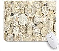 KAPANOUマウスパッド 木製ライトブラウン抽象的なサークルパターン ゲーミング オフィス おしゃれ 防水 耐久性が良い 滑り止めゴム底 ゲーミングなど適用 マウス 用ノートブックコンピュータマウスマット