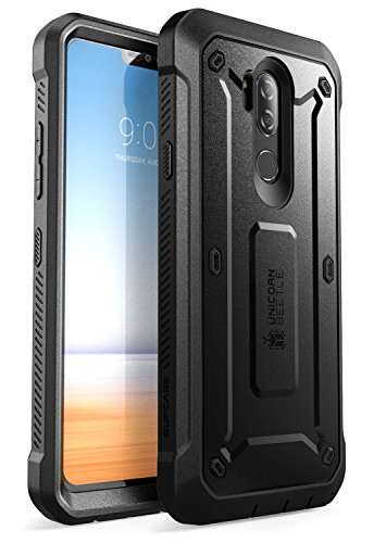 LG G7 Case, LG G7 ThinQ Case, SUPCASE Full-body Rugged Holster Case with Built-in Screen Protector for LG G7 2018 Release, Unicorn Beetle Pro Series with Holster (Black)