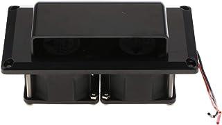 KESOTO Universal RV Camper Trailer Motorhome Inner Side Air Vent Ventilation Exhaust Fan 12V DC 25W, Waterproof - Black