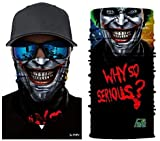 3D Magic Balaclava Smile Joker Why so Serious? Movie Seamless Bandana Scarf High Elastic Face Masks Head Band Wears Tube Neck Shield Sun No.293
