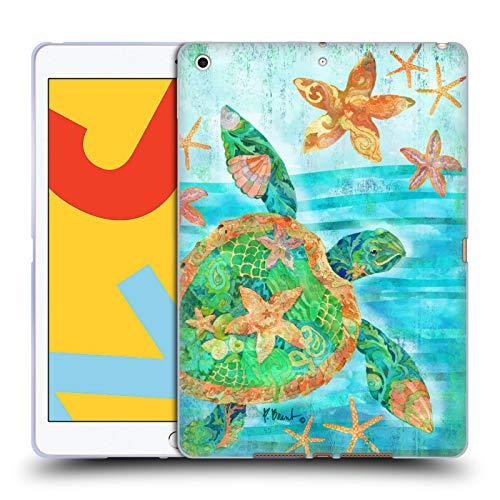 Officiële Paul Brent Nassau Schildpad Kust Soft Gel Case Compatibel voor Apple iPad 10.2 (2019)