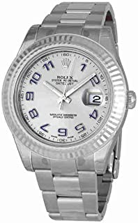 Rolex Oyster Perpetual Datejust II Rhodium Dial Automatic Mens Watch 116334SAO