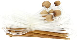 MagiDeal 12 Tailles Aiguilles à Crochet en Bambou Carbonisé Afghan Tunisien 3,0-10,0 mm