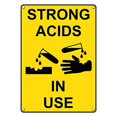 Weatherproof Plastic Vertical Strong Acids in Use Sign with Bombing free shipping Max 58% OFF Engl